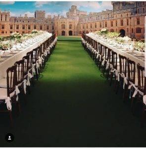 Casamento Royal com paredes cenográficas